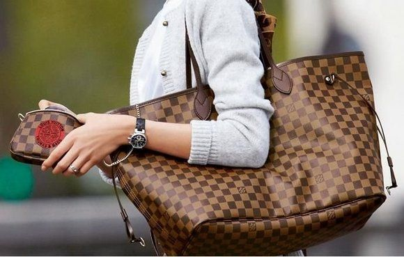 dfd457828 Louis Vuitton Neverfull GM Damier Ebene. ❤ this bag... One day ...