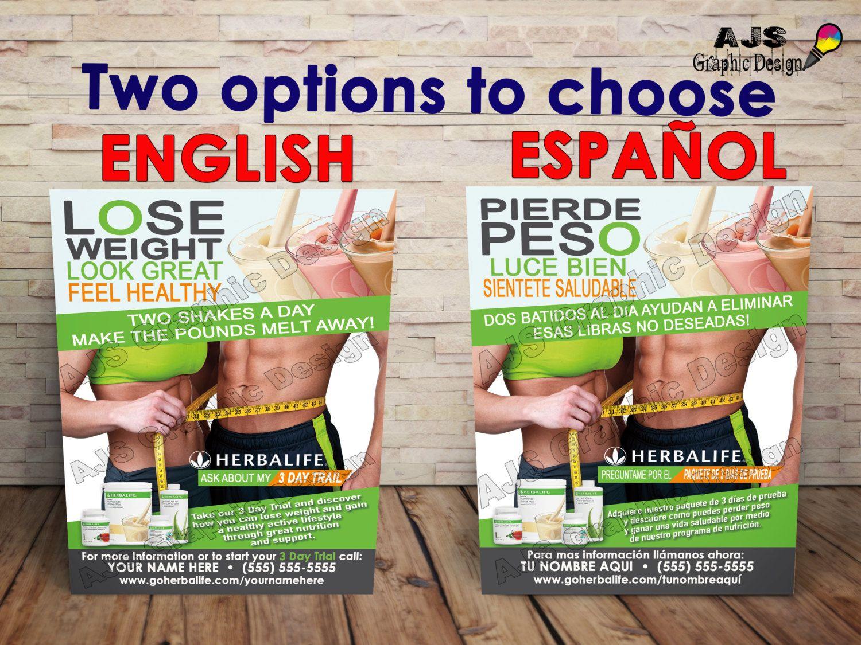 500 herbalife flyers 3 u0026quot  x 5 u0026quot   u2022 english or spanish