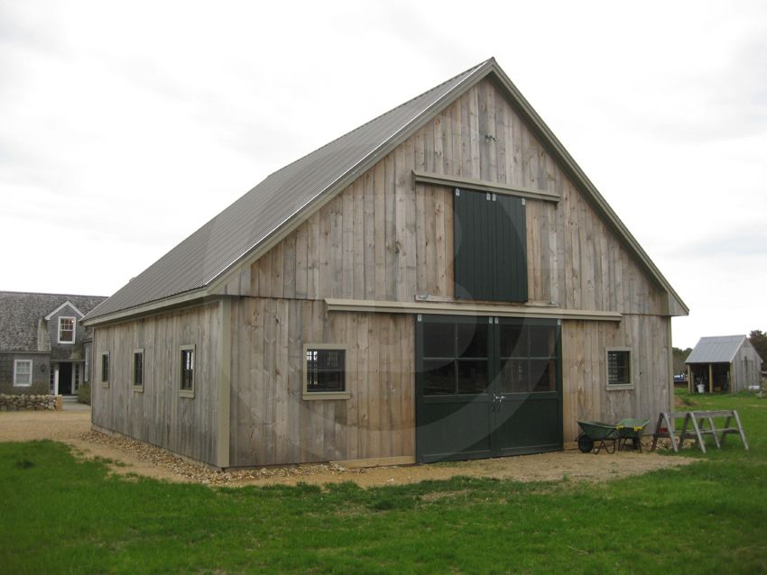 Wood Frame Structure Pole Barn Style With Four 12 X 12 Stalls Custom Yoke Stall Door Grills Ce Metal Shop Building Barn House Plans Pole Barn House Plans