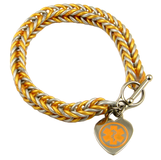 Gold/Silver Silicone Medical Charm : Stylish Medical ID, Style you can depend on .  Please visit us at www.stylishmedicalid.com to see this and more.