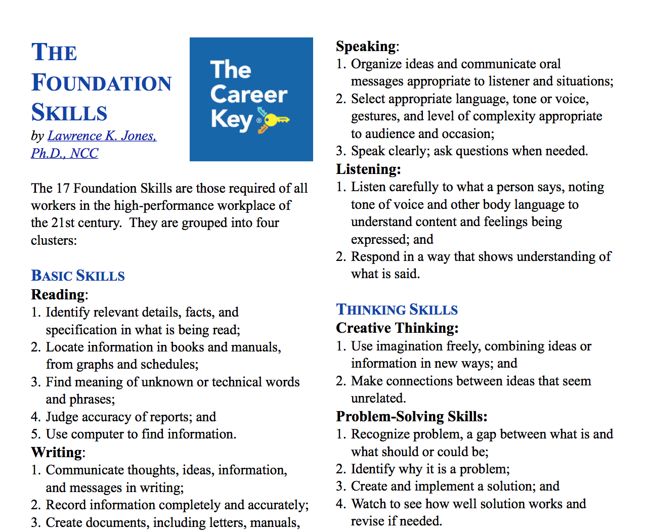 The 17 Foundation Job Skills Which Ones Do You Have What