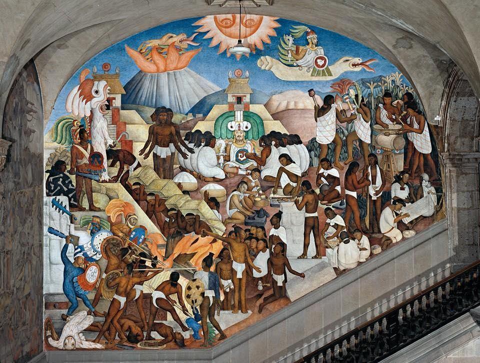 The Aztec World 1929 Stairway Of The Palacio Nacional Mexico City