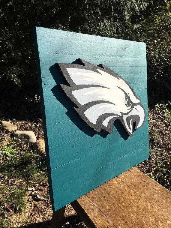 77ff12d55dd Philadelphia Eagles 3-D Wood Sign! Hand Made! Great for the Eagles Fan!