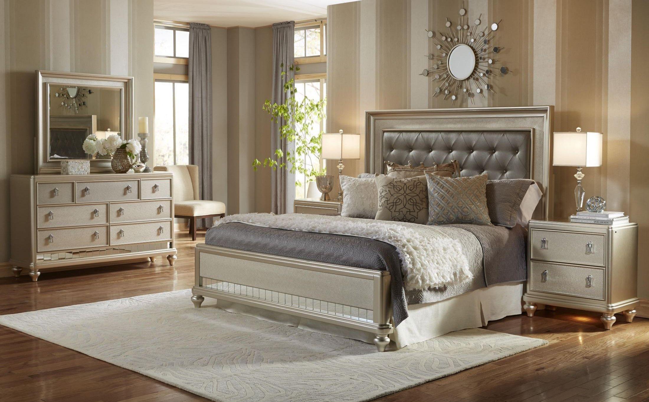 Ashley Furniture Signature Design Bedroom Set Diva Metallic Panel Bedroom Set  Bedroom  Pinterest  Bedrooms