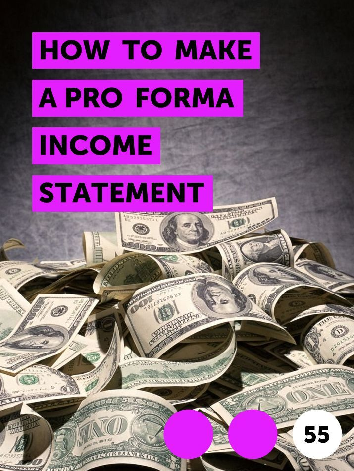 How to Make a Pro Forma Income Statement in 2020 | Money ...