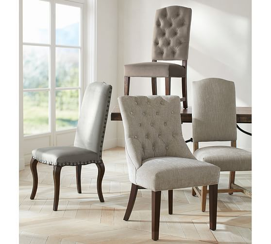 Super Ashton Tufted Dining Chair Quick Ship Pottery Barn Caraccident5 Cool Chair Designs And Ideas Caraccident5Info