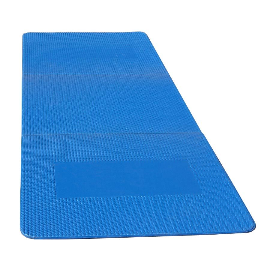 Portable Exercise Mat 20 x 52 Inches Blue Mat exercises