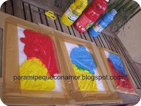 Experimentar con las mezclas de colores sin mancharnos