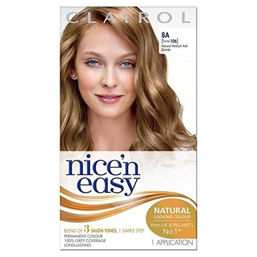 Nice N Easy Hair Dye Medium Ash Blonde 8a Pack Of 4 Click
