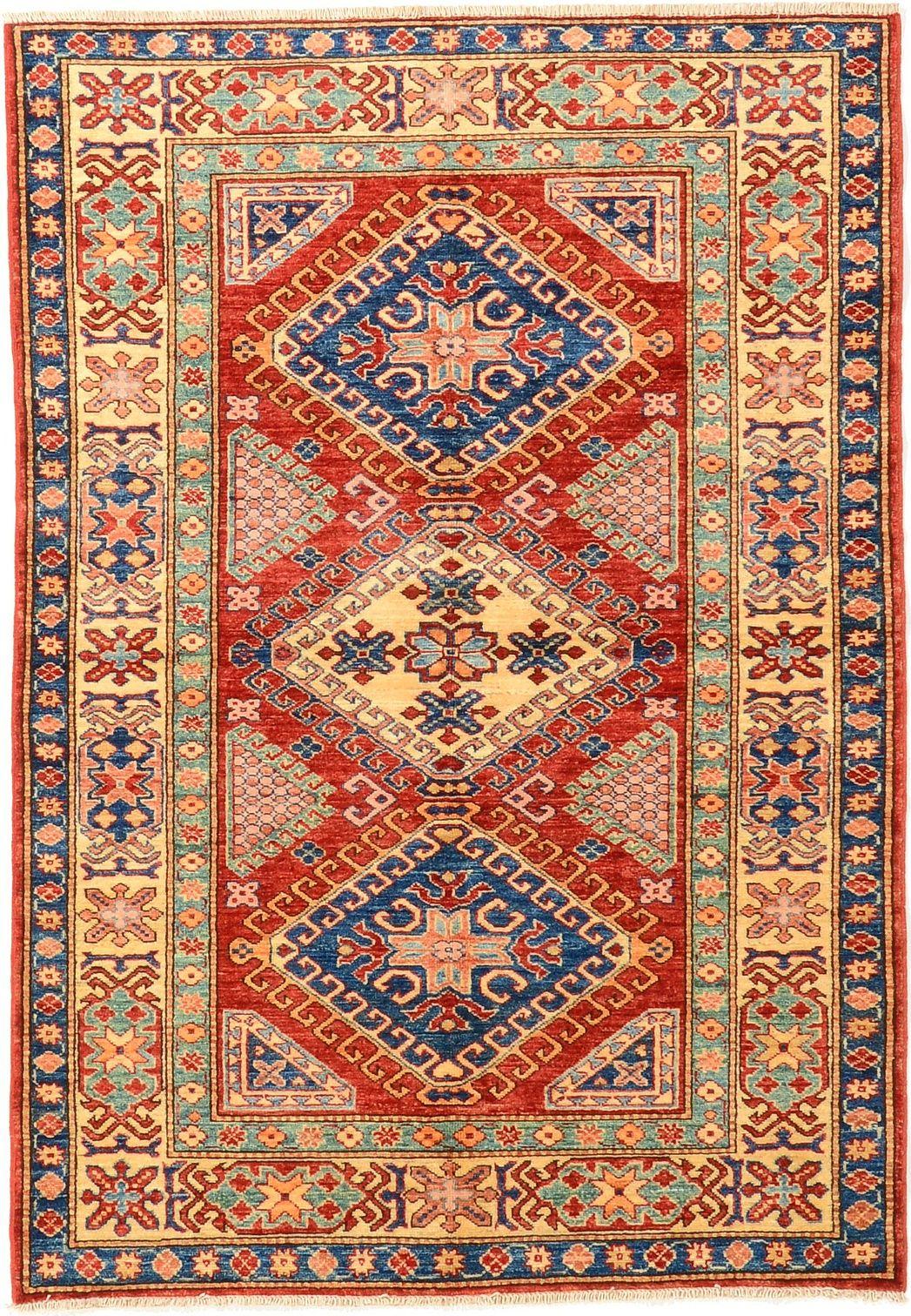Red 4 1 X 5 10 Kazak Oriental Rug Rugs