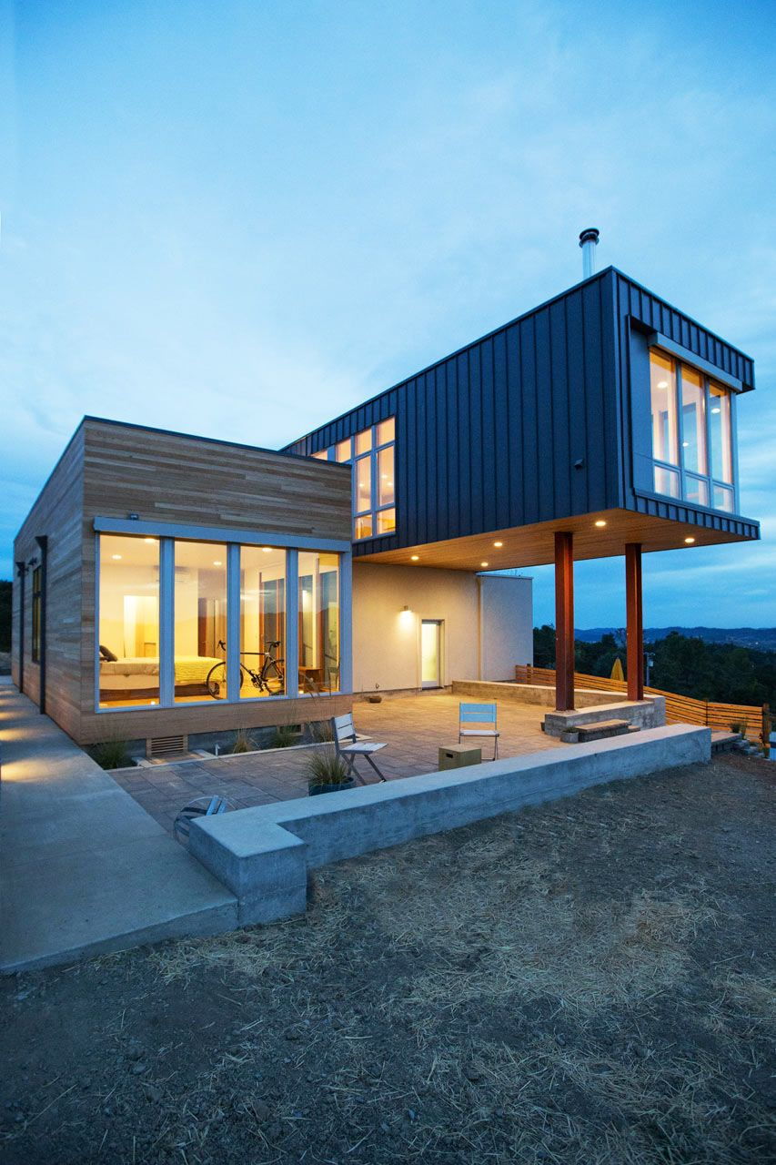 Fab Prefab House Overlooking Panoramas of Sonoma's Rolling Hills