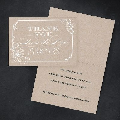 Country Blossom Rustic Wedding Thank You Note  Printed Http