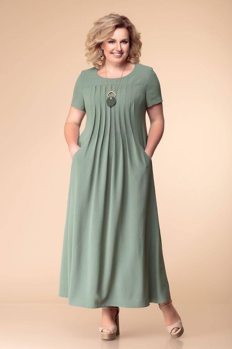 012ade368 Платье женское предназначено для повседневной носки. Длинное летнее платье,  цвет хаки, свободный крой