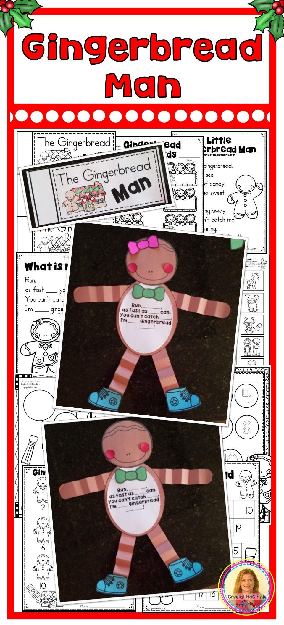 Dollar Deal Gingerbread Man Printables Activities And Craft Gingerbread Man Activities Gingerbread Activities Christmas Kindergarten [ 2112 x 960 Pixel ]