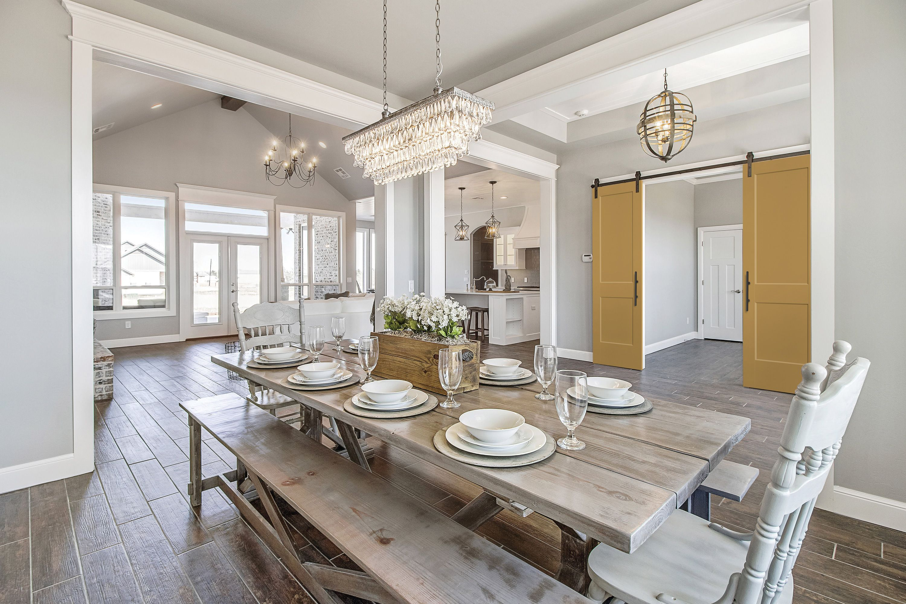 Shabby Chic Craftsman Style Dining Room Featuring Heritage Series