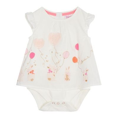 12bf7c9ce0b0 Baker by Ted Baker Baby girls  off white bunny applique mock bodysuit-