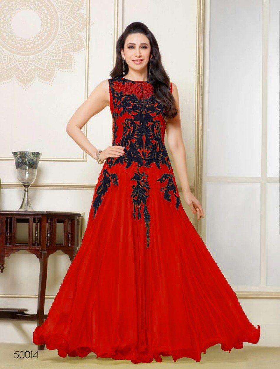 Red heavy bridal anarkali frock 7 suitanarkali in - Gratifying Red Designer Anarkali Salwar Suit Online Shop Krishna Emporia