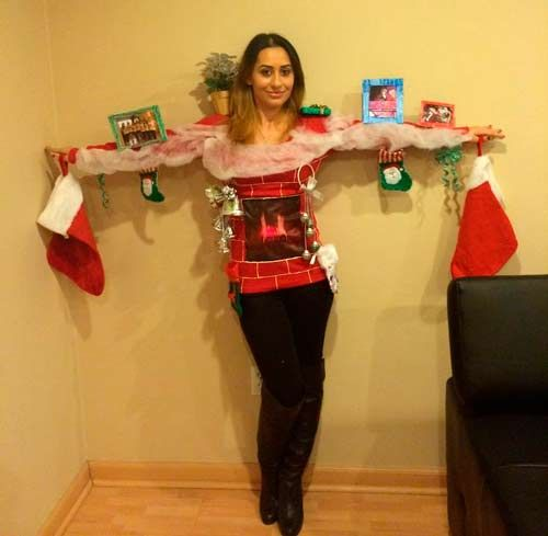 Disfraz Diy Muy Original De Chimenea Navidena Navidad Christmas Costumes Disguises