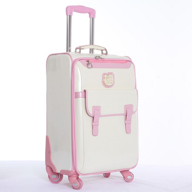 30a3c0b69 Fashion hello kitty suitcase 20 inch women luggage bag High quality PU travel  suitcase with wheels 3 color can choose