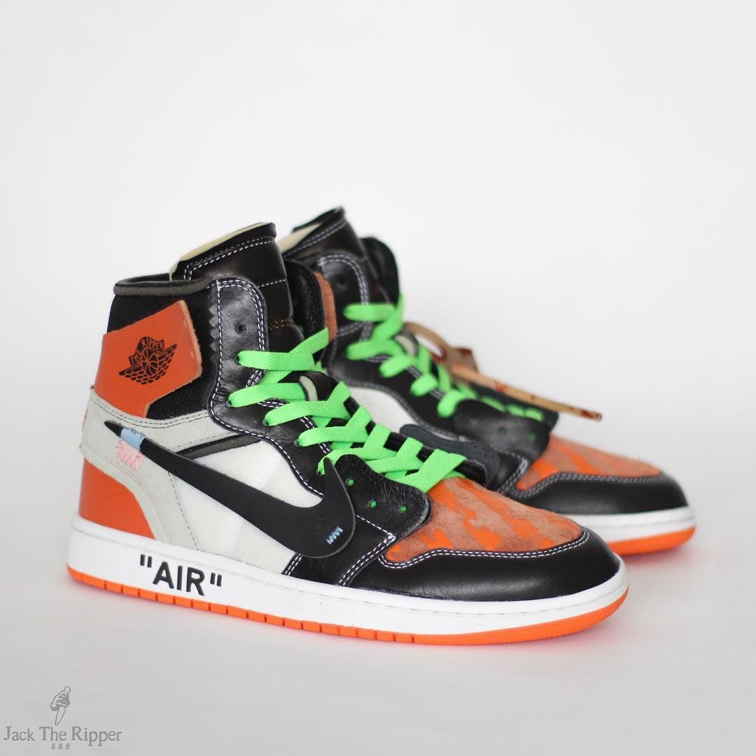 outlet store b1e3f 60676 Shattered Backboard Air Jordan 1 OFF WHITE Custom by Jack the Ripper