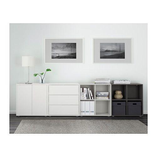eket schrankkombination f e wei hellblau dunkelblau vida pinterest wohnzimmer schrank. Black Bedroom Furniture Sets. Home Design Ideas