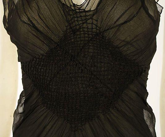 Evening dress Madeleine Vionnet  (French, Chilleurs-aux-Bois 1876–1975 Paris)  Date: 1937 Culture: French Medium: silk. Detail