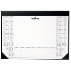 Durable Desk Mat With Paper Inlay Plastic Black 42 5 X 0 5 X 60 Cm With Images Desk Mat Calendar Pad Paper