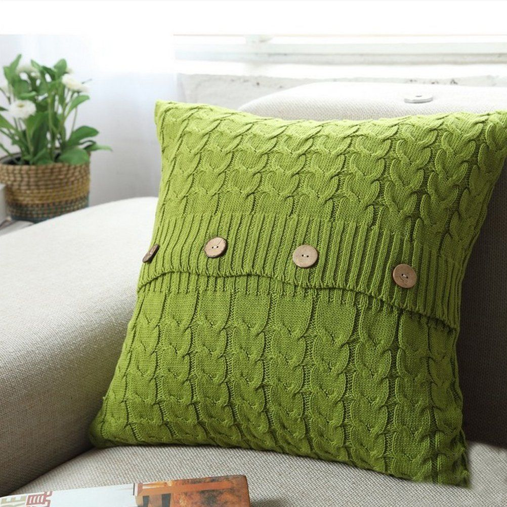 Homeorganizer tech cotton removable knitted decorative pillow case