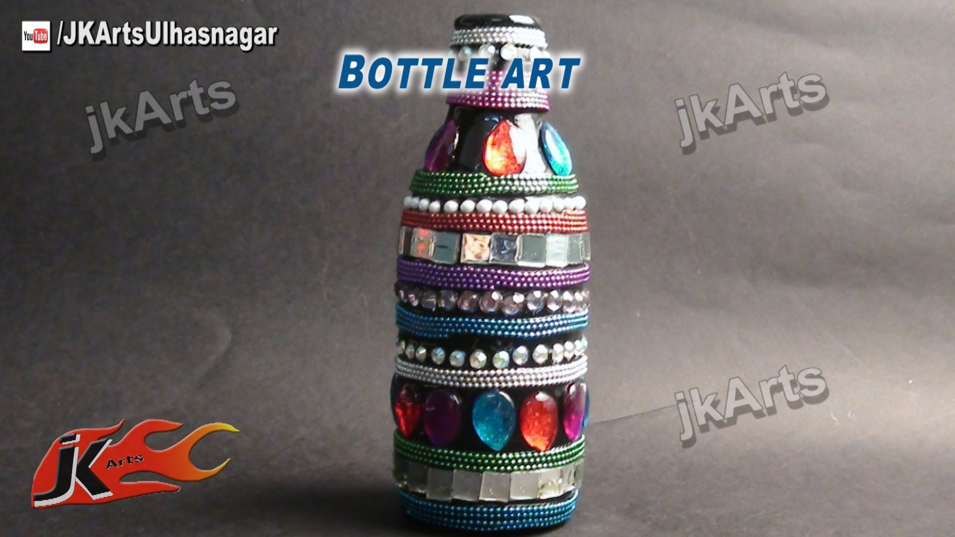 Decoration Ideas With Glass Bottles How To Decorate Glass Bottle  Bottle Art   Jk Arts 506
