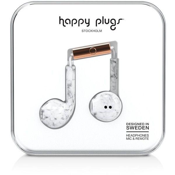 Happy Plugs Earbud Plus Marble Print In Ear Headphones