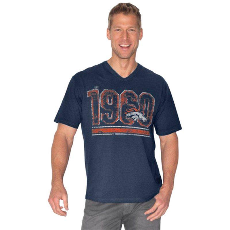 Denver Broncos Breakaway Slub T-Shirt - Navy Blue