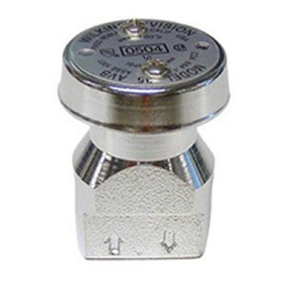 Zurn 1 4 In Brass Atmospheric Vacuum Breaker Vacuums Lawn Sprinkler System Chrome