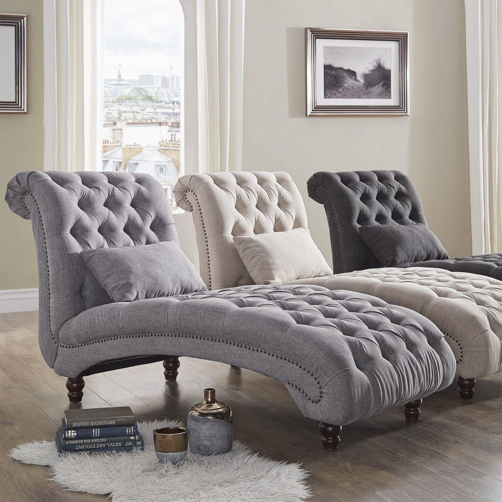 Knightsbridge Tufted Oversized Chaise Lounge by iNSPIRE Q Artisan |  Overstock.com Shopping - The
