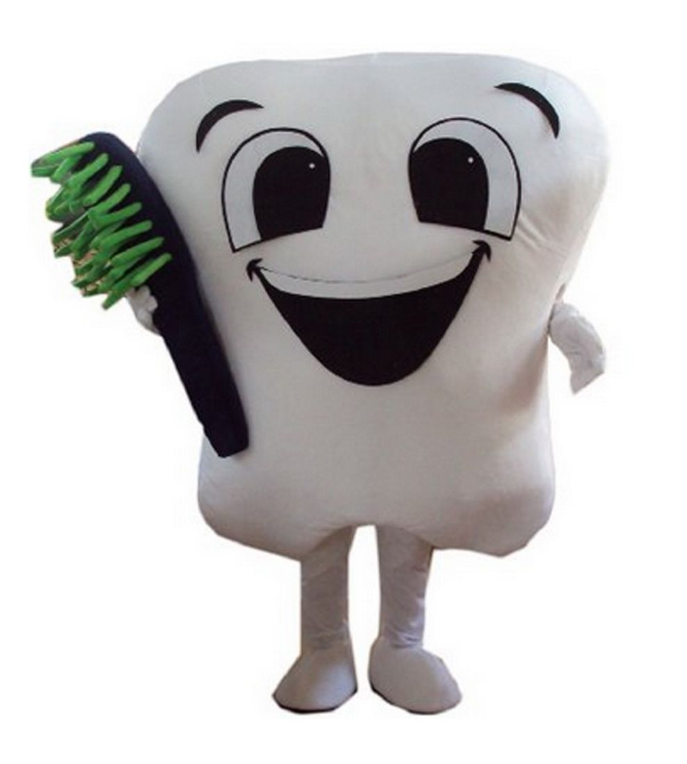 Hot Sale Tooth Mascot Costume with Toothbrush Adult Costume