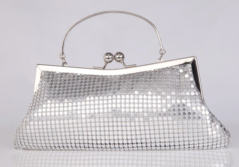 New Style Crystal Shine Girls Wedding Accessories Hand Bags