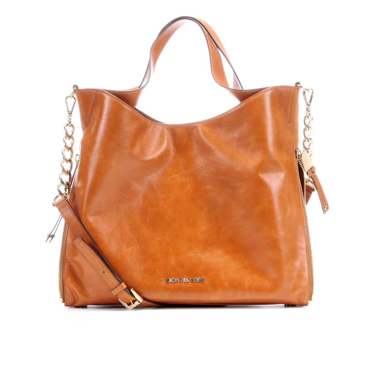 7908c98b0665 MICHAEL Michael Kors Devon Large Shoulder Tote Bag - Light Luggage ...