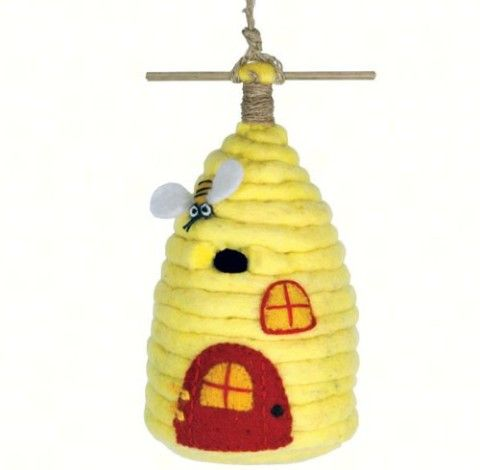 Felt Birdhouse – Honey House