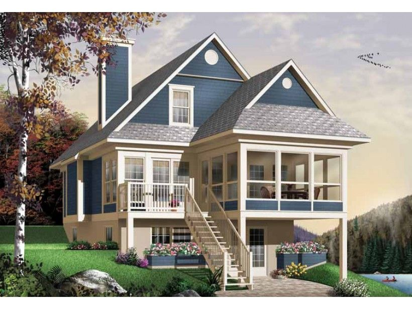 Eplans Bungalow House Plan Utterly Relaxing 1484 Square Feet And 3 Bedrooms From Eplans House Plan Code Hwepl11192 Future Home Lake House Plans Bung
