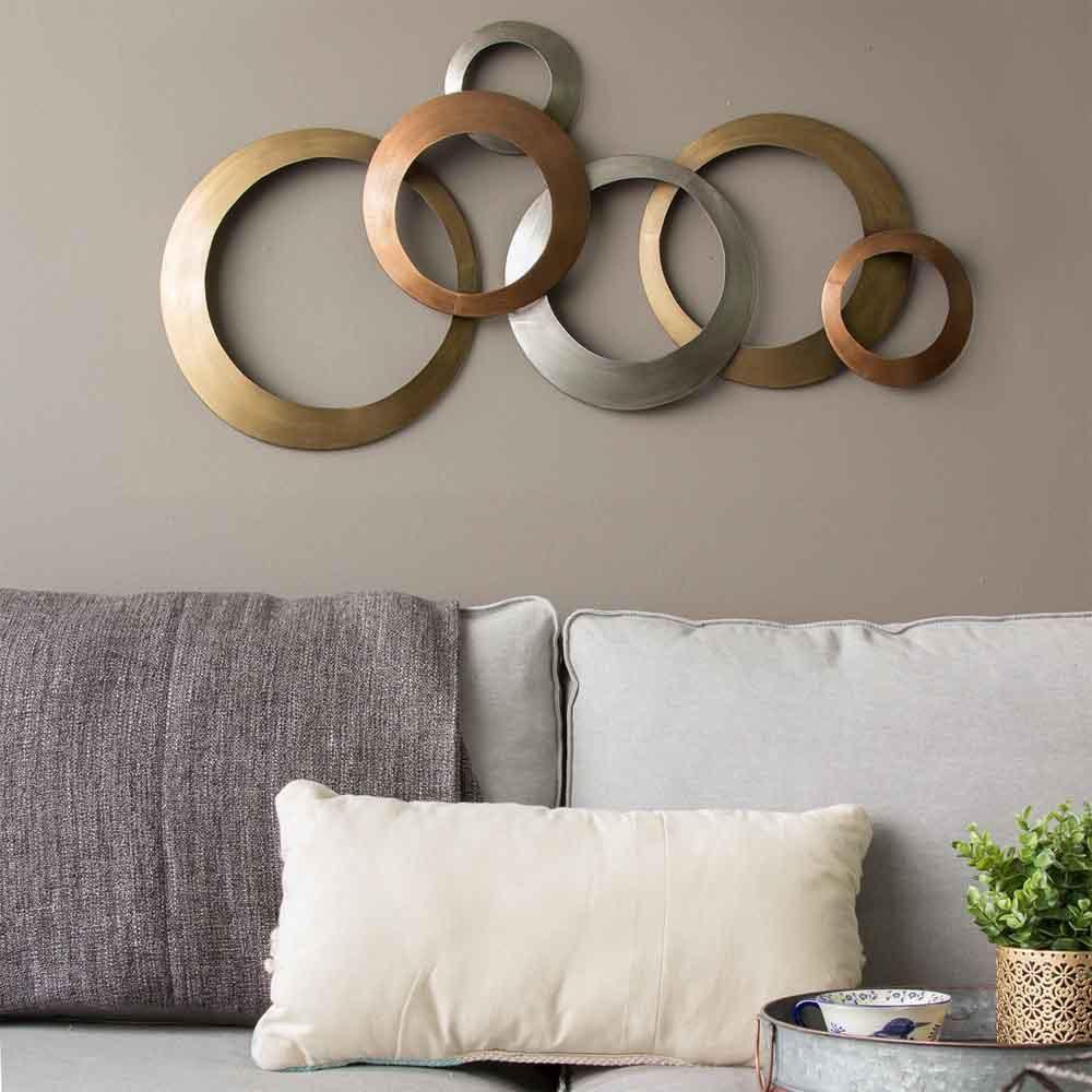 Interlocking Circles Metal Wall Decor Home Decor Wall Art