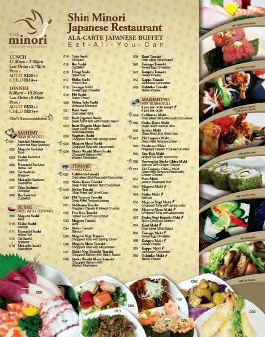 Shin Minori Japanese Restaurant Product Services Online