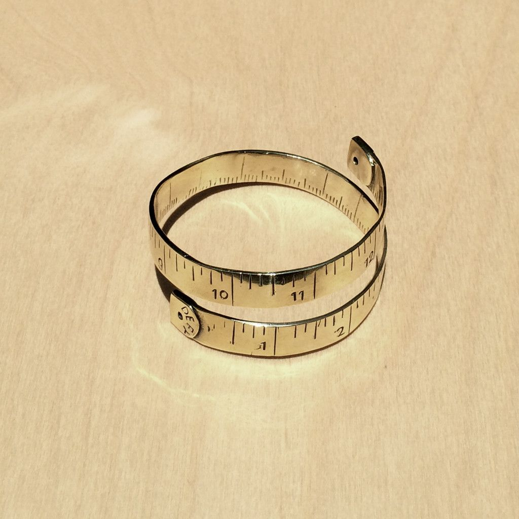 Measuring Tape Brass Bracelettoo bad I missed this when