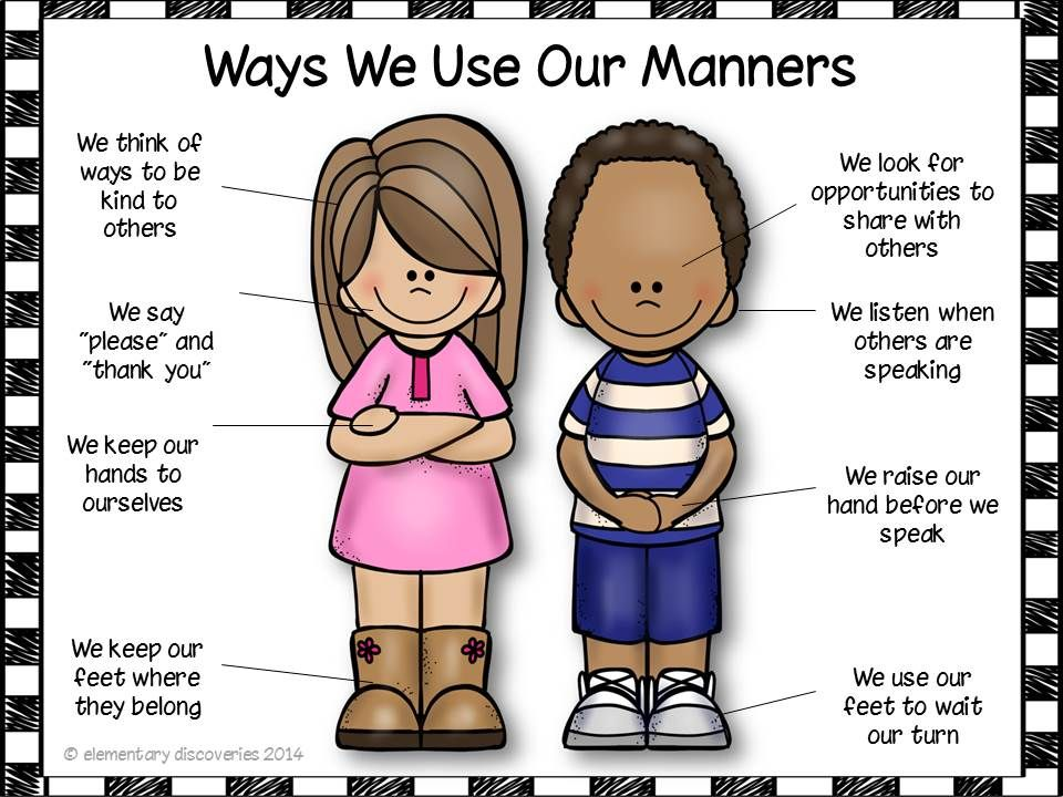 Manners : Manners, Students and School