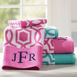 Personalized Bath Towels Personalized Towel Wraps PBteen - Personalized bath towels for small bathroom ideas