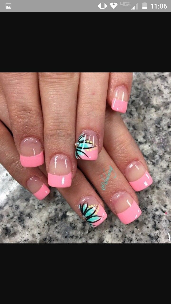 Cute Nail Art For Short Nails Shortnails Nailart Pink French