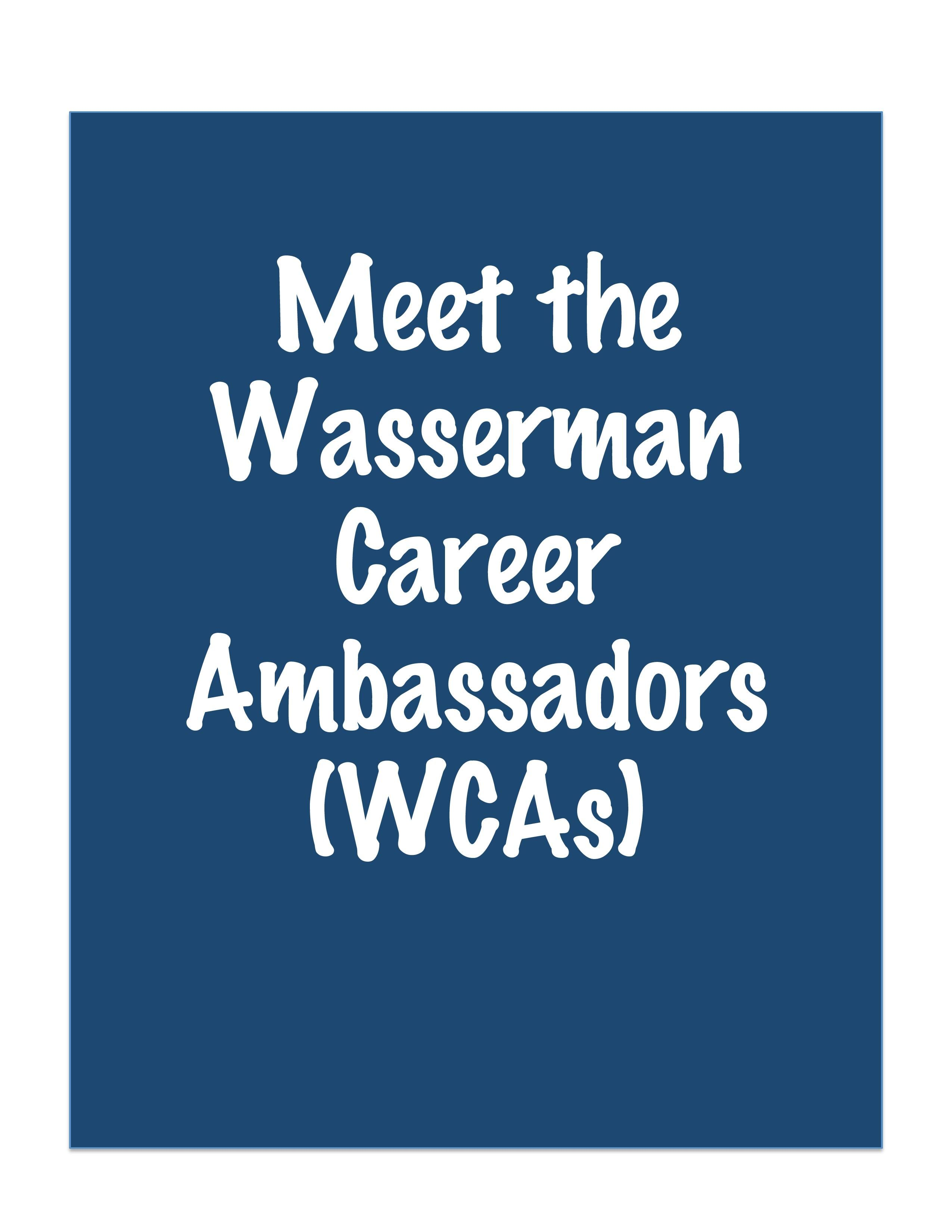 nyu wasserman center for career development nyuwasserman on meet the career ambassadors career ambassadors are nyu wasserman s undergraduate peer educators on campus who