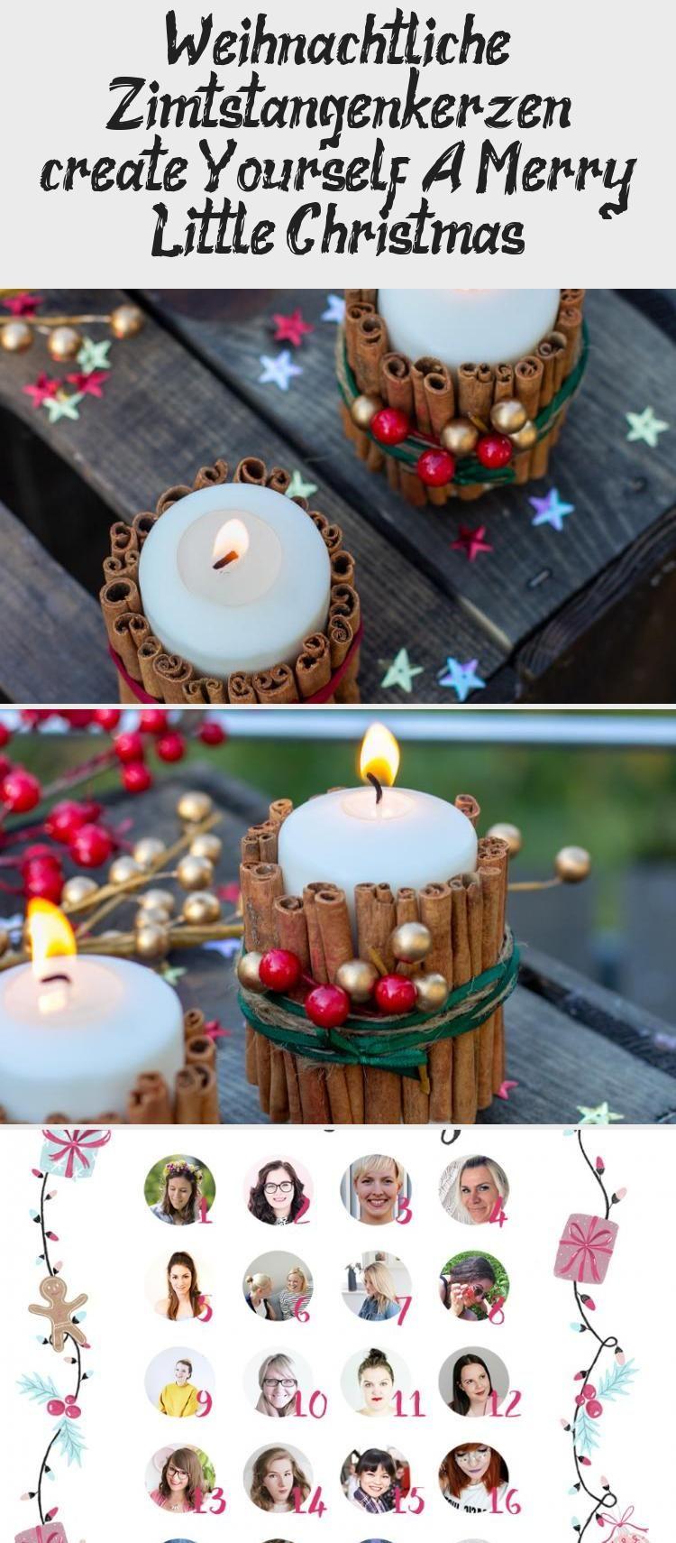 Weihnachtliche Zimtstangen Kerzen Create Yourself A Merry Little