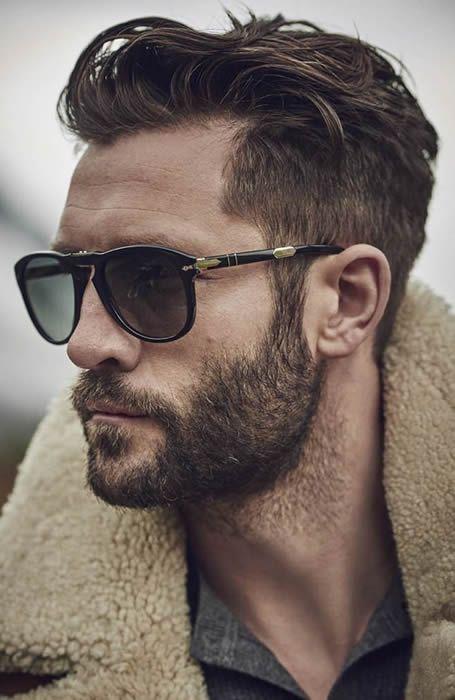 Men\'s Textured Quiff Hairstyles Beard http://www.99wtf.net/men ...