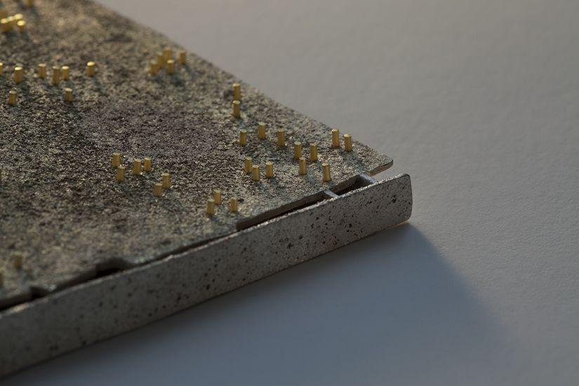 "Per Suntum Detail from the broch ""Rockscape"""