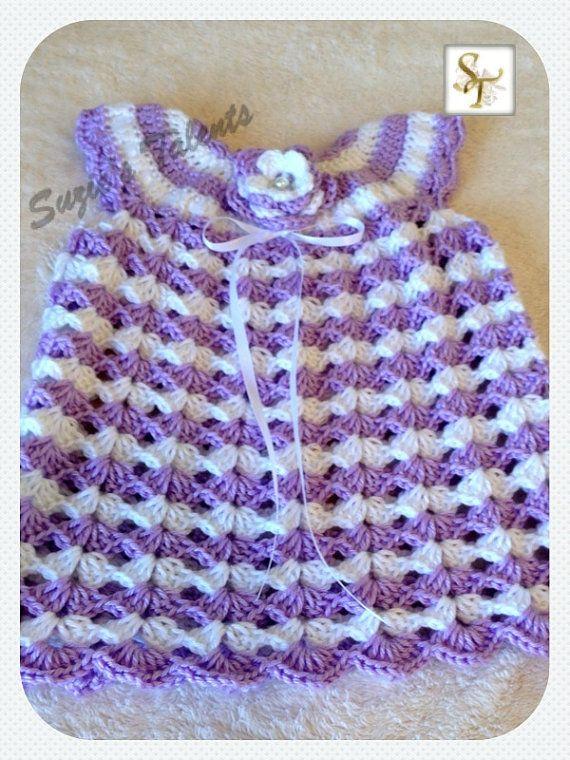 ESPECIAL vestido del ganchillo de bebé. Vestido de bebé | vestidos ...