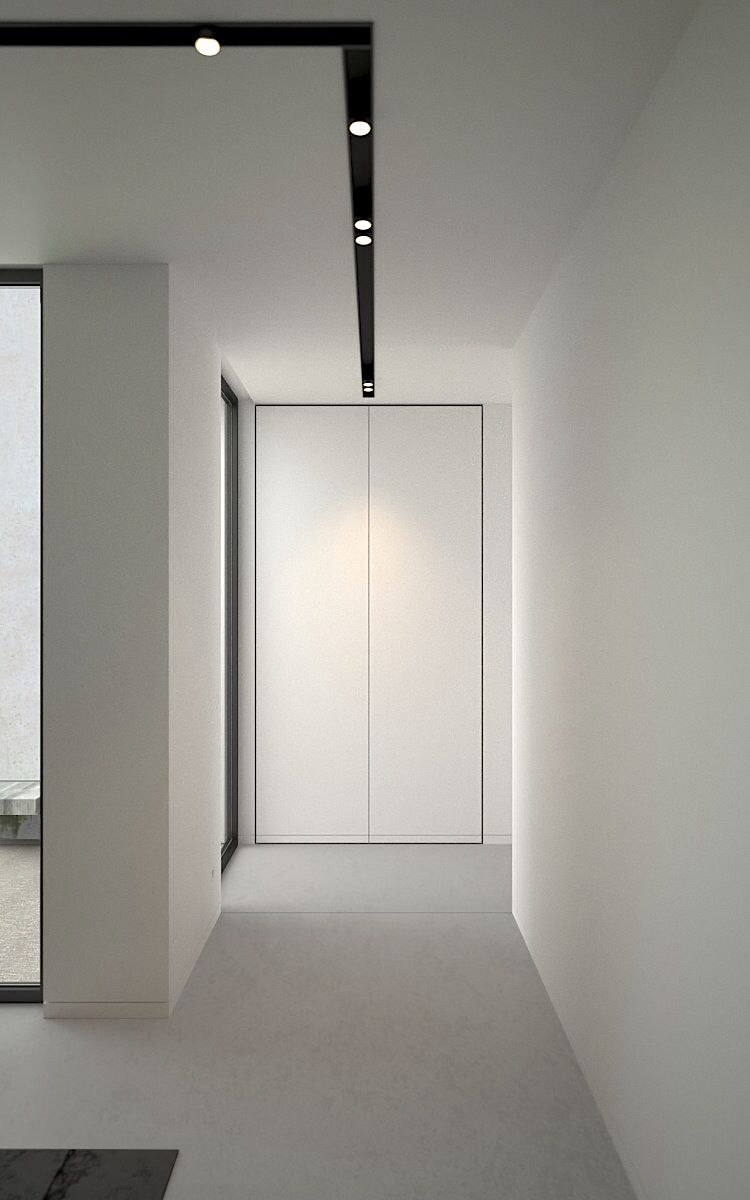 Hallway minibw pinterest interiors corridor and lights interior by ad office recessed lighting aloadofball Image collections